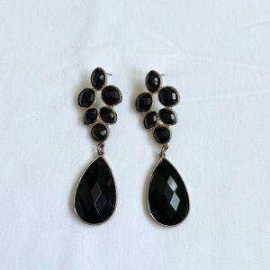 Vintage Onyx & Gold Earrings
